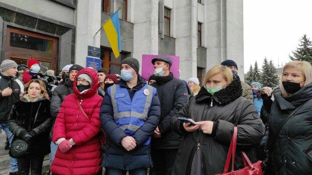 Мітинг у Тернополі, фото: суспільне