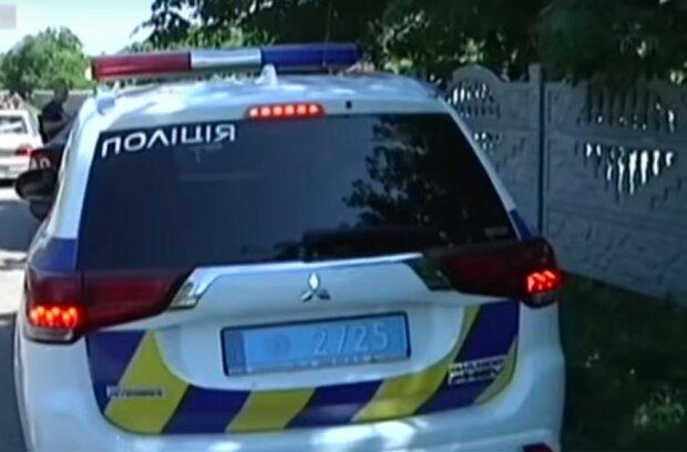 машина полиции, скриншот из видео