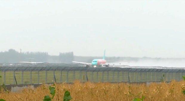 Аэропорт Борисполь, кадр из видео, изображение иллюстративное: YouTube