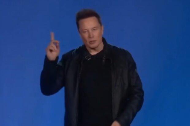 Ілон Маск, скріншот з відео