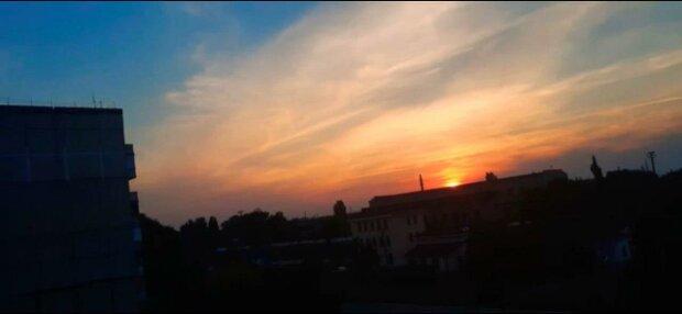 В небе над Запорожьем заметили Бога