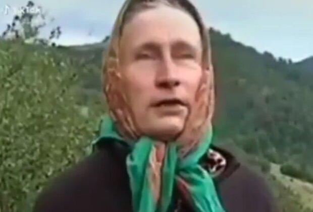 Бабця-Путін, скріншот відео