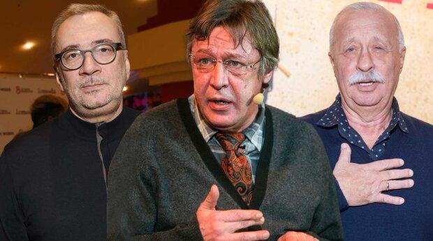 Меладзе, Ефремов и Якубович, фото: eg.ru