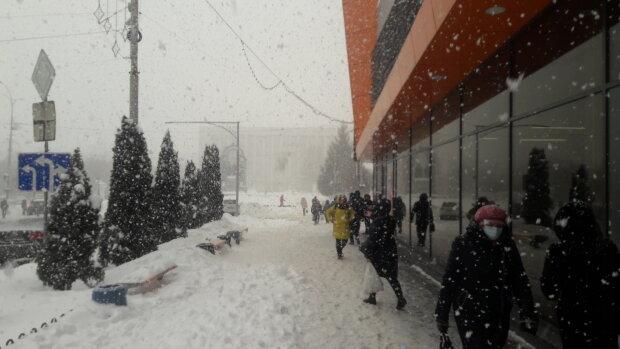 Снегопад, зима - фото Знай.uа