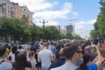 Мітинг у Хабаровську, скріншот: YouTube