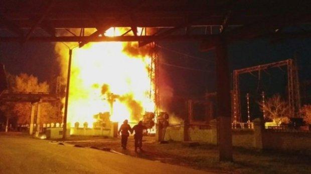 Знеструмлена північ Луганщини через пожежу на ТЕС