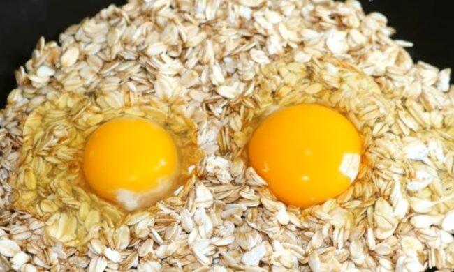 Вівсянка з яйцем, кадр з відео