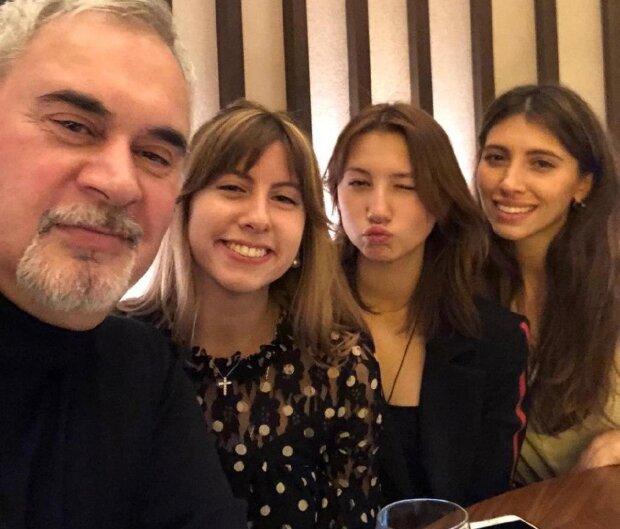 Меладзе с дочерьми, фото с Instagram