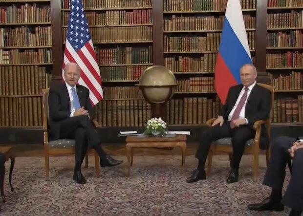 Джо Байден і Володимир Путін, кадр з відео
