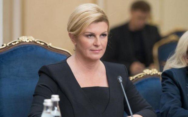 Президент Хорватії оголила груди (фото)
