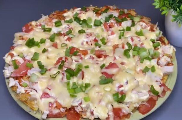 Пицца на картошке, фото Facebook