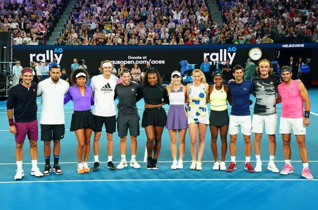 Найкращі тенісисти світу провели благодійний турнір, twitter.com/WeAreTennis