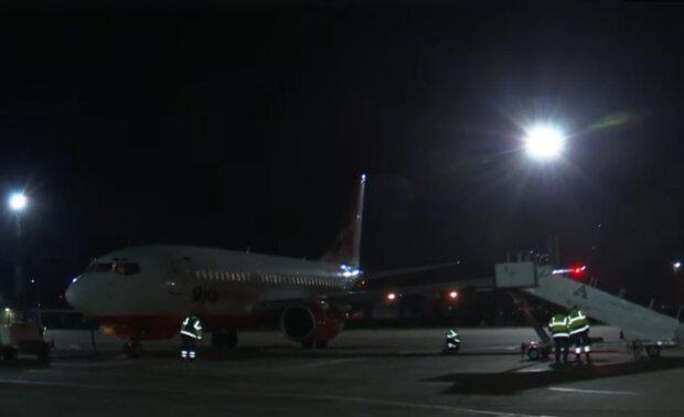 Самолет из Италии, скриншот: ОП