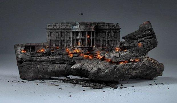 Художник «сжег» все проблемы Америки (фото)