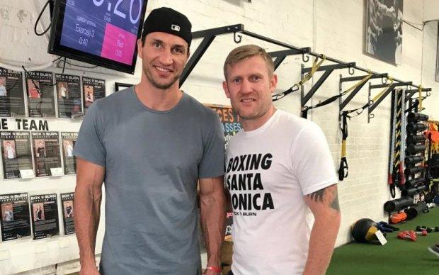 Кличко поддерживает форму в тренажерном зале в Лос-Анджелесе