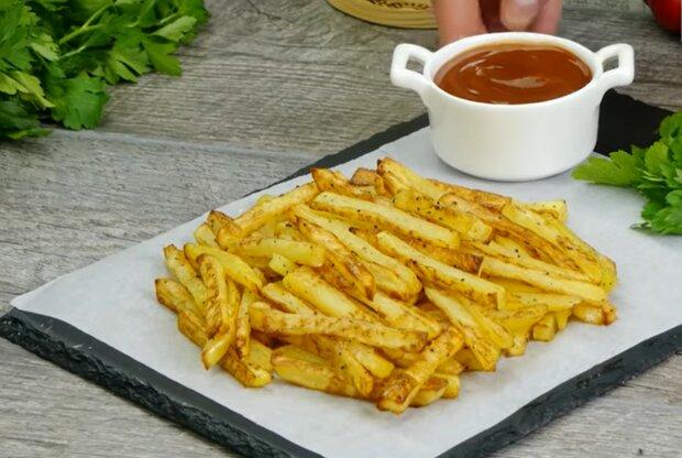 Картофель фри, скриншот: YouTube