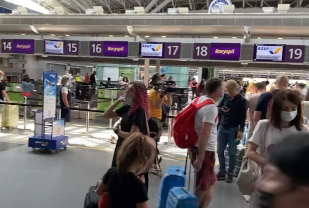 Аеропорт Бориспіль, скріншот: YouTube