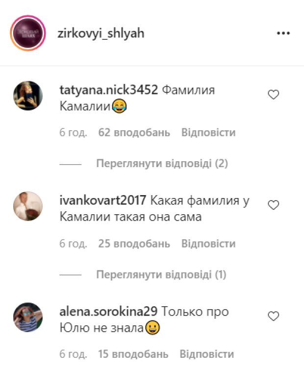 Коментарі, instagram.com/zirkovyi_shlyah