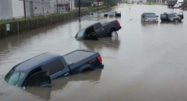 Ураган Бета в Техасе, скриншот видео