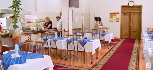Столовая Верховной Рады, фото: скриншот из видео