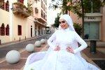 Весілля в Бейруті під час вибуху, скріншот з відео