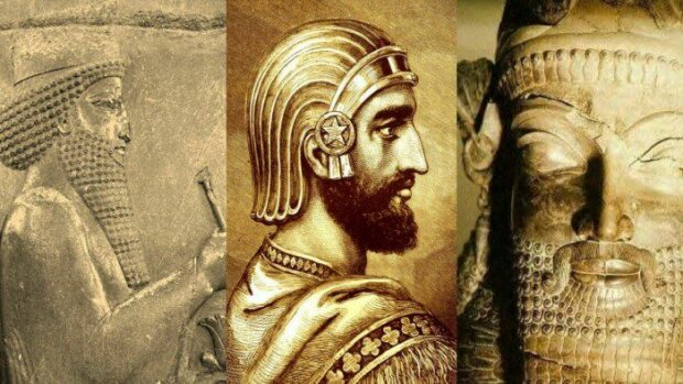 Портрет Кіра II Великого. Сучасна реконструкція на основі зображення на рельєфі в Пасаргадах