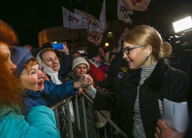 Юлия Тимошенко на встрече с избирателями