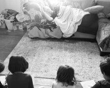 Майкл Вебер з дітьми, фото: Майкл Вебер
