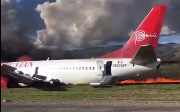 Обнародовано видео авиакатастрофы в Перу