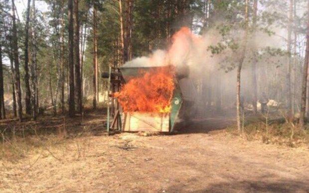 Янтарная мафия сожгла дом нацгвардейцев