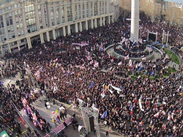 Грузини проти проросійського уряду (фото)