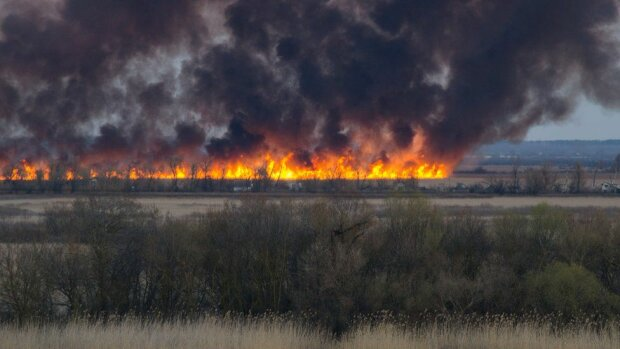 Пожар в Херсоне: Фото bbc.ua