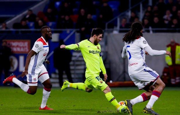 Мессі запалював за Барселону, але Ліон втримав нічию