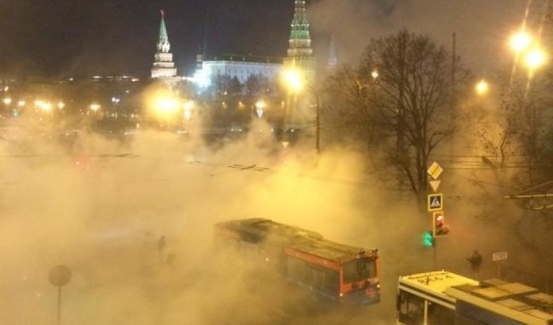 В Кремле прорвало трубы