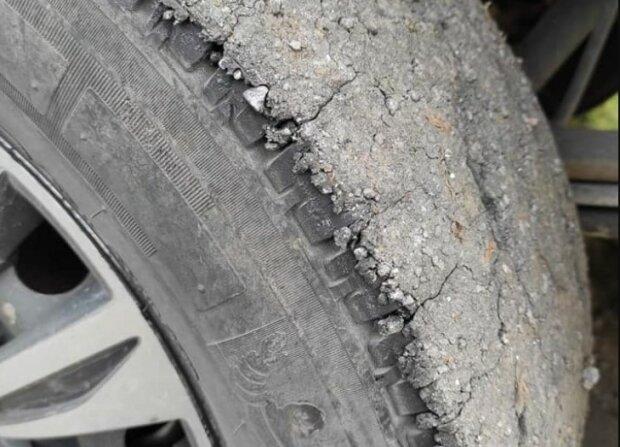 Асфальт на шинах, фото: facebook