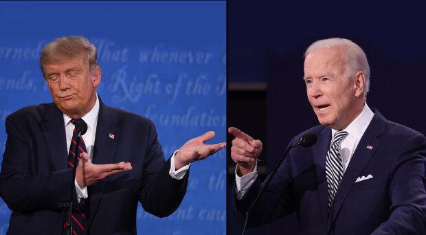 Дональд Трамп и Джо Байден, фото Getty Images, коллаж