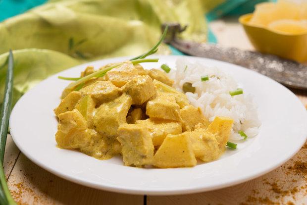 Вам точно понравится: курица в сливочном соусе карри с ананасом
