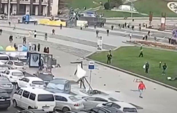 ДТП на Майдане Независимости, скриншот видео