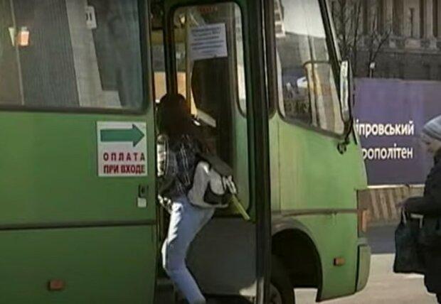 маршрутка Днепра, скриншот из видео