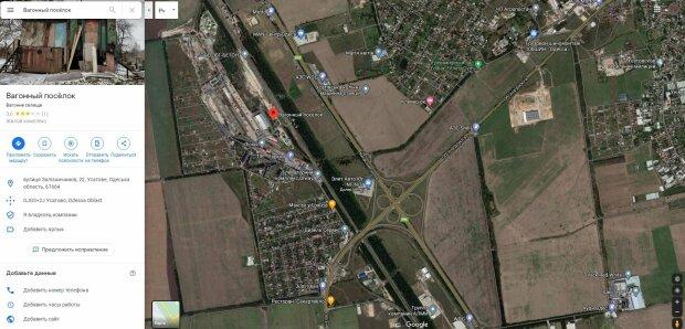 """Геолокация """"вагонного городка"""", скриншот: Google maps"""