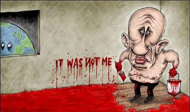 Печерна людина: карикатуристи висміяли Путіна за Боїнг-777 (фото)