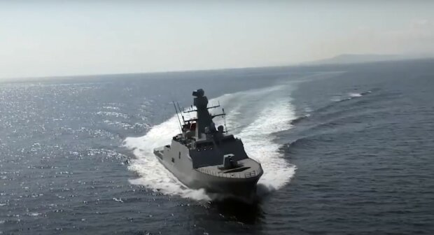 корвет, скріншот з відео