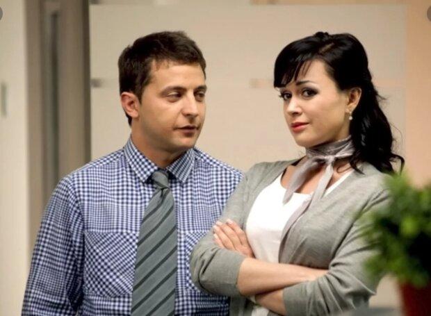 Зеленский и Заворотнюк, кадр из фильма