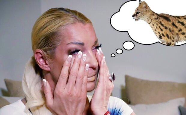 Волочкова моторошно познущалася над своєю кішкою на телешоу: волокла по підлозі і сміялася
