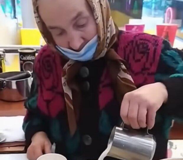 """Харківська бабця-бариста підкорила українців, мережа гуде: """"Молодчинка!"""""""