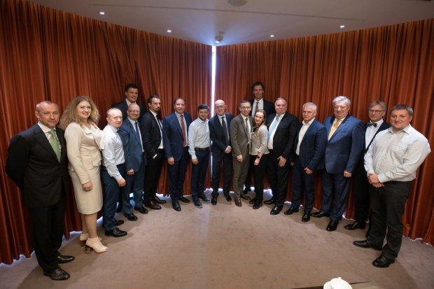 Зеленский на встрече с банкирами