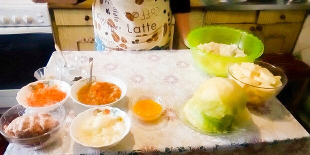 Голубцы с картофелем, фото YouTube