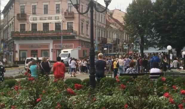 Мітинг у Чернівцях, скріншот