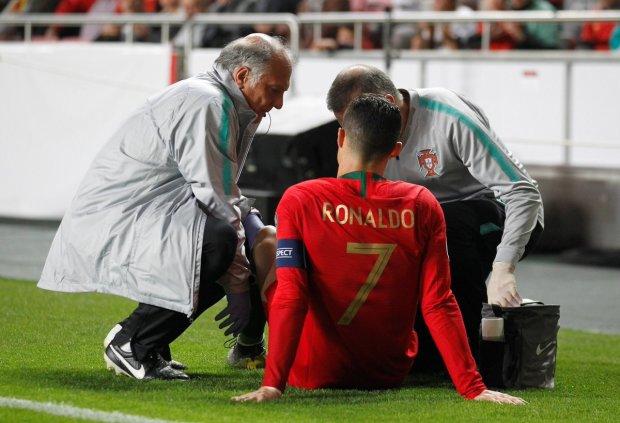Кріштіану Роналду отримав травму в матчі з Сербією