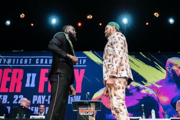 Ф'юрі та Уайлдер зустрілися перед боєм, Boxingscene